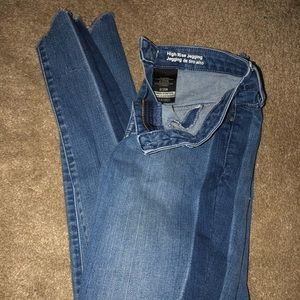Mossimo size 0/25R high rise jegging, almost new